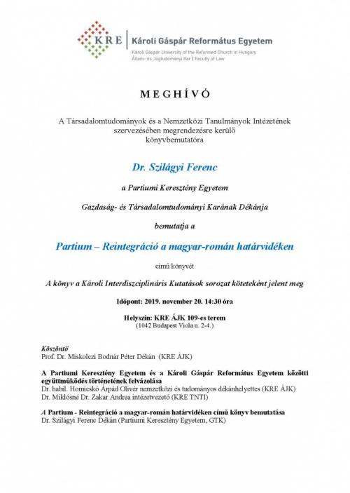 Könyvbemutató Szilágyi Ferenc 11 20 1